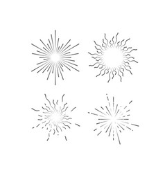 radial light rays or sunbeams vector image