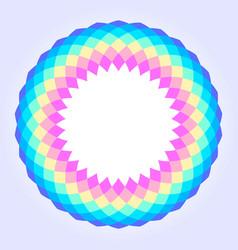 rainbow colored circular mandala design vector image