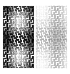 seamless chinese weave line pattern art vector image