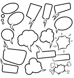 set empty comic speech bubbles design element vector image