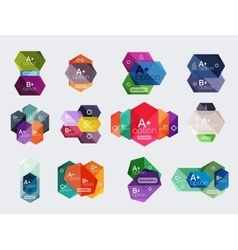 Set of abstract infographics content boxes vector