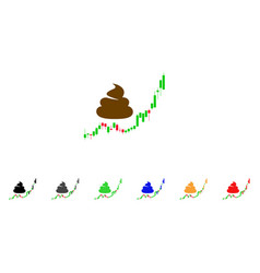 Shit hyip candle chart icon vector