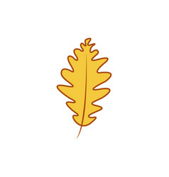 simple yellow leaf autumn theme cartoon design vector image