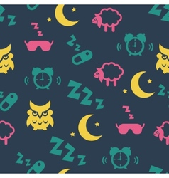 Sleep time seamless pattern vector