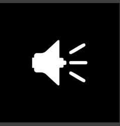 sound icon on black background black flat style vector image