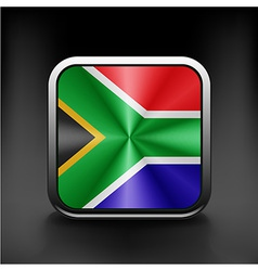 South african flag national travel icon country vector
