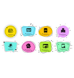 ssd reject web and tablet pc icons set vector image