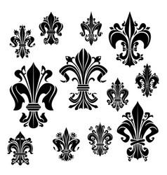 Symbol heraldiic fleur-de-lis lily flower vector