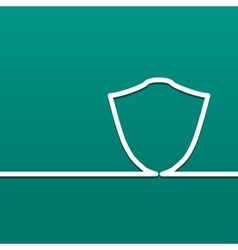 Symbol shield Icon defense and security on a vector image