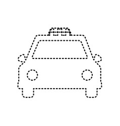 taxi sign black dashed icon vector image