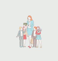 Teachers day celebration concept vector