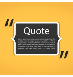 Text box with quotes vector
