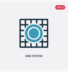 two color grid system icon from technology vector image