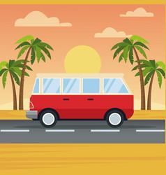 Vehicle in highway vector