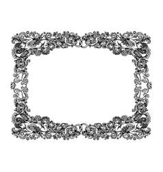 vintage wedding vignette frame vector image