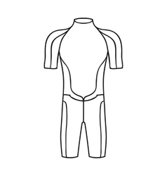 Wetsuit icon in outline style isolated on white vector image vector image