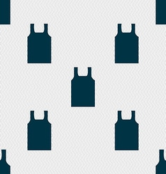 Working vest icon sign Seamless pattern with vector