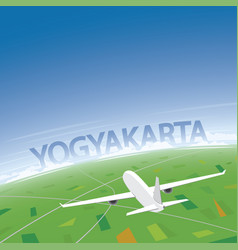 Yogyakarta flight destination vector