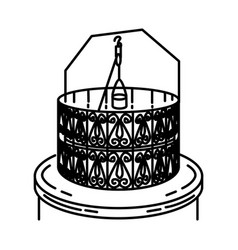 Zamzam well icon doodle hand drawn or outline vector