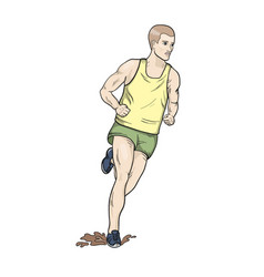 Cross country running vector