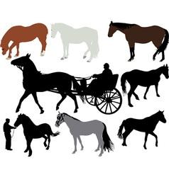 Horses vs vector image vector image