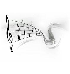 music note background grey vector image