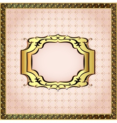 pink background framed with pearls vector image