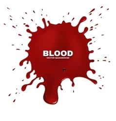 Red blood splatter grunge background vector image vector image