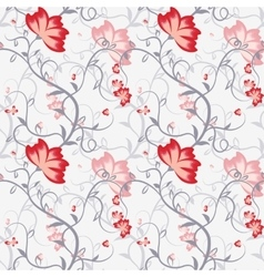 Seamless pattern with delicate intertwining stems vector image