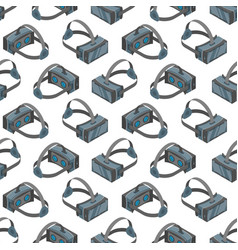 virtual reality headsets seamless pattern vector image