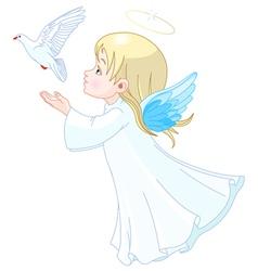 Angel vector image