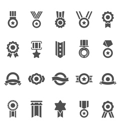 Badge Awards solid icons vector image vector image