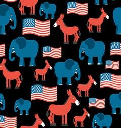 Elephant and Donkey seamless pattern Symbols of vector image vector image