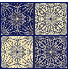 Lace pattern set vector image