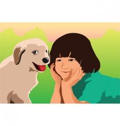 puppy love vector image vector image