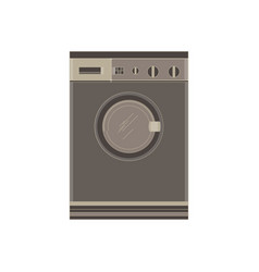 washing machine flat icon isolated front view vector image