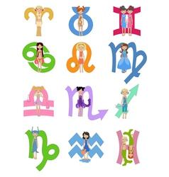 Astrological zodiac signs vector