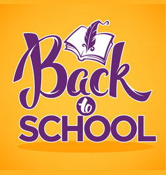 Back to school lettering composition with image vector