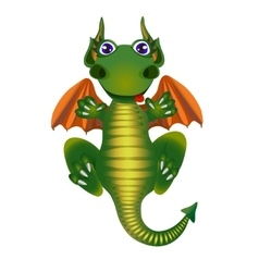 Cartoon dragon fly and smile vector image