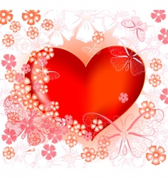 abstract valentine vector image