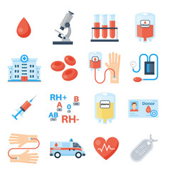 blood donation full icon set vector image