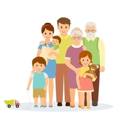 Family portrait in flat style vector image