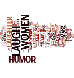The power of humor text background word cloud vector