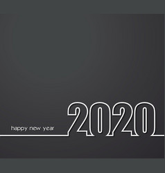 2020 new year or christmas creative background vector image