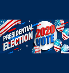 2020 usa presidential election banner vector image