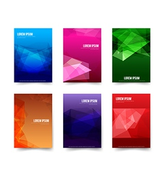 Abstract background Set of simple colorful vector image