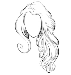 abstract drawing of long hair vector image