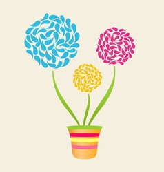Abstract Flower In Pot vector