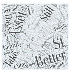 Asset management in st century word cloud vector