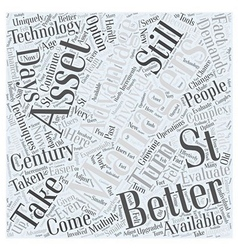 Asset Management in the st Century Word Cloud vector